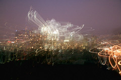 loss of reality (damonabnormal) Tags: longexposure nightphotography light blur philadelphia beautiful canon neon cityscape motionblur paintingwithlight smear aug phl 07 2007 lightpaint dreamstate august2007 canonxti canonefs1785 smearingwithlight