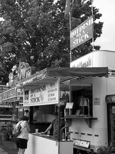 Hotdish On A Stick B&W