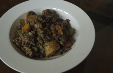 lamb and lentil braise