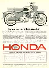 vintage honda advertising ad motorcycle 1965