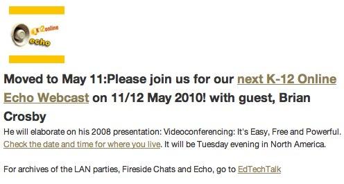 K12 Online Echo Webcast