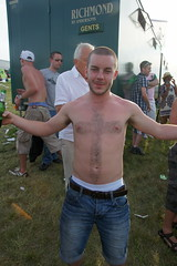 The Cross of St George (CharlesFred) Tags: shirtless england football horseracing worldcup sagging sag sagger thederby engerland epsomdowns 25days 2050000 230610