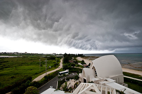 Nasty storm clouds in Okinawa