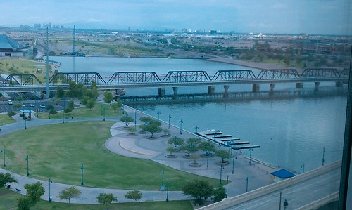 Good to see water flowing in Tempe Town Lake #RailLife