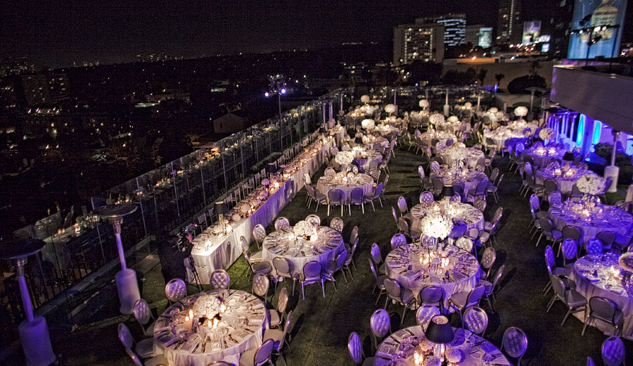 Roof top banquet for 300 the London West Hollywood