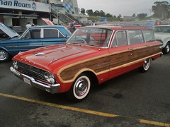 1963 Ford XL Falcon Squire station wagon (sv1ambo) Tags: new wood ford station wales creek wagon day all south sydney australian woody australia nsw falcon eastern squire rare xl 2009 1963 raceway woodie