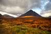 Buachaille Etive Mor sunburst (ukstairs) Tags: autumn water rain clouds river scotland waterfall highlands argyll perthshire glencoe rhyolite westhighlandway buachailleetivemor coupallfalls cauldronsubsidence