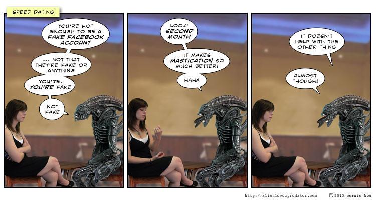 Alien loves predator speed dating