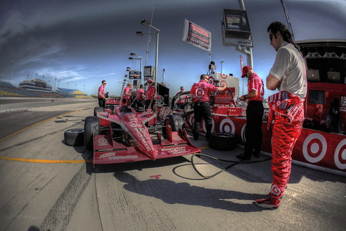 Dario in pit lane and HDR