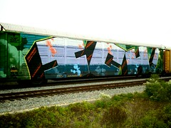 ichabod (reiswigPHOTO) Tags: train graffiti texas houston railway trains railcar spraypaint technique ichabod