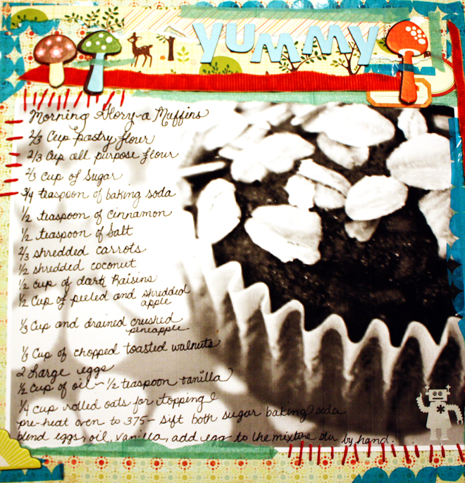 Gloria's *Recipe* Layout