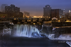 Rochester, New York- High Falls (ApproachingLight) Tags: winter ice high falls rochester waterfalls geneseeriver highfalls geneseefalls