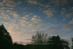 Disturbance (laszlo-photo) Tags: ohio sky reflection water river landscape action 5d ripples canoneos5d painsville