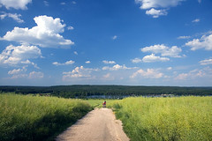 Cycling Beyond Plze (Pavel Vanik) Tags: summer sport canon way landscape eos cycling country czechrepublic plzen 30d 1755is abigfave fieldpath colorphotoaward