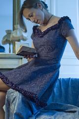 """ Romantic Blue ... ~ (Carine and Marine) Tags: blue portrait paris me dress flat robe 5 romantic 500views 600views carine 555v5f 333v3f 5faves abigfave corbette 8faves 12faves"