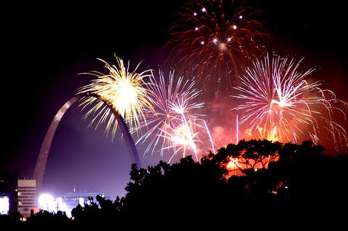 St. Louis Arch & Fireworks