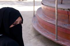 (Shemer) Tags: woman black veil hijab lunapark niqab burka thisisnoburka