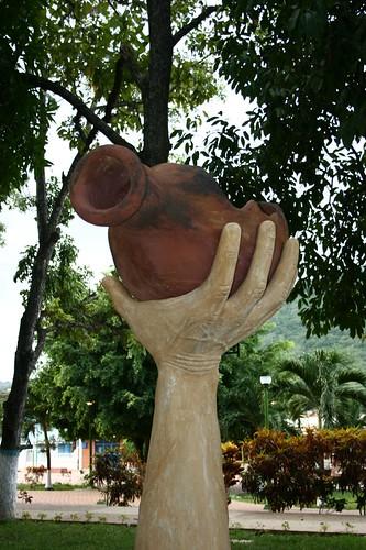 Escultura en la Plaza