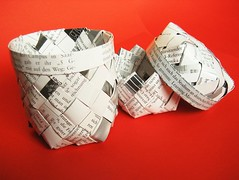 paper basket box (ccyytt) Tags: magazine paper basket box recycled handmade crafts weaving