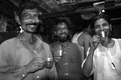DSC_1062 (Tanja on flikr) Tags: 2005 bw india tea drinking rickshaw kolkata puller westbengal black38white