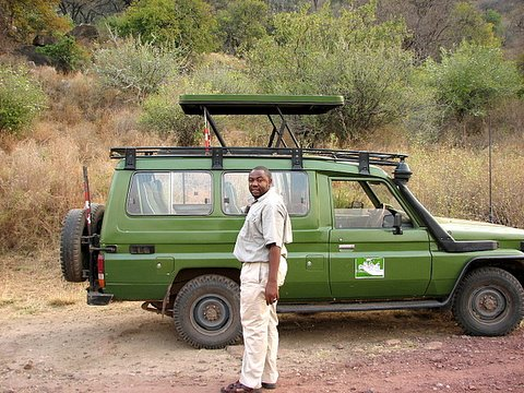 Huruma and his Toyota Landcruiser
