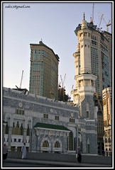 Masjidil Haram between buildings ...