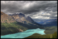 Peyto Lake (Marcel Cavelti) Tags: blue lake canada colour landscape rockies jasper alberta northamerica banff wilderness hdr peytolake banffnp diamondclassphotographer landcscape2
