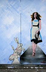 dan's Alice (knautia) Tags: uk england streetart rabbit bunny dan bristol graffiti stencil motorway alice august easton 2007 m32 withdan