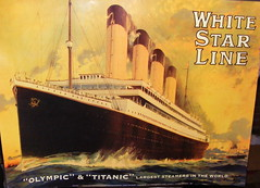 White Star line in buff