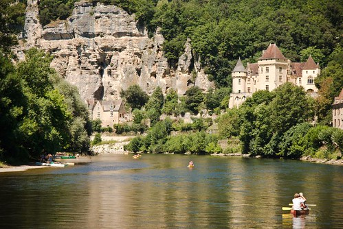 Village along Dordogne River France