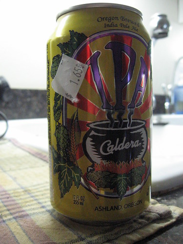 Caldera IPA in a can