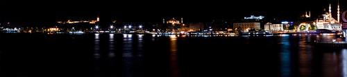 Panoramic from Galata's bridge