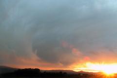 Under the Tuscan sun (MACBOY6) Tags: sunset italy orange sun yellow del clouds lago italia bright wind cloudy windy umbria castiglione podere fontegallo