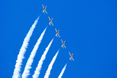 Canadian Snowbirds (Forest Wang) Tags: sky ontario canada june expo aviation kitchener 200iso airshow waterloo planes snowbirds 2010 f63 breslau kitchenerwaterloo 210mm canadiansnowbirds 424pm june2010 11000secatf63 sonydslra230 fathersday2010