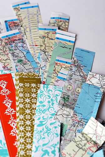map bookmark pieces