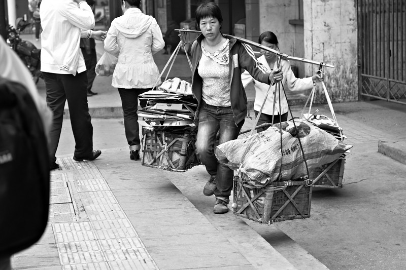 Girls Carrying Heavy Baskets BLOG