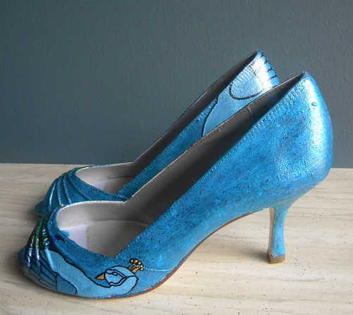 ONLY PAINT Bridal Shoes peacock teal STARRY NIGHT only paint no dye
