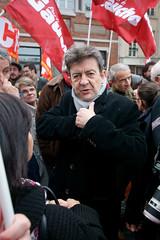 Jean Luc Mélenchon (dprezat) Tags: paris contest protest meeting pg pcf politique centrepompidou manifestation politic beaubourg opposition grève particommuniste solidarité jeanlucmélenchon sonyalpha700 gaucheunitaire partidegauche frontdegauche