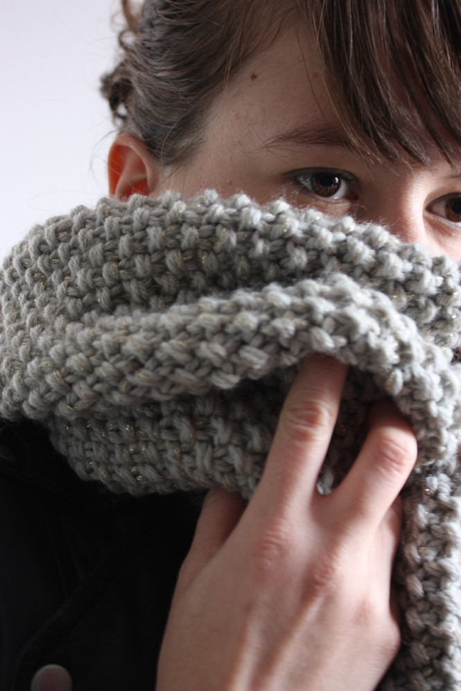 tricoter un snood aiguilles 8