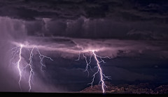 Purple Haze (Eye of the Storm Photography) Tags: arizona clouds monsoon lightning cochisecounty therebeastormabrewin arizonathunderstorms