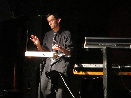 Nick w/ Theremin @ Moogfest 2010