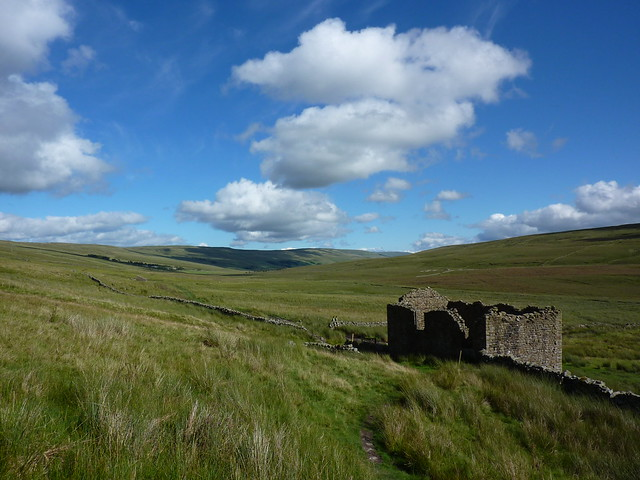Looking back towards Oughtershaw Moss