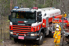 "RFS Gosford 13 ""Bert"" (In the Smoke) Tags: rural fire bert nsw vehicle emergency appliance scania response gosford fireservice rfs bulkwater gosford13"