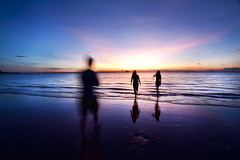 'A Dip at Dusk', Australia, Darwin, Mindrel Beach, Sunset