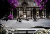 Via dei mercanti (kenyai) Tags: milan mi strada milano bici piazza duomo 12mm fiori biciclette canonefs1022mmf3545usm canon30d viamercanti interestingness142 i500 mwpotw ciclografia cyclography