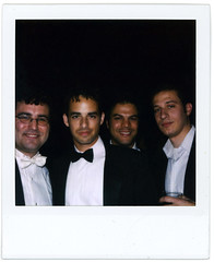 the boys (flybutter) Tags: nyc film polaroid financialdistrict wintergarden benefit slr680 afterparty bflat 779 flybutter miracleatgroundzero sohosynagogue beyondblacktie