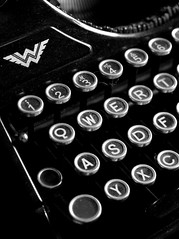 Alt Pt. II (FrankfurterZeit) Tags: old white black typewriter keys key close low continental sw schreibmaschine tasten