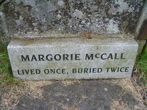 Margorie McCall - lived once, buried twice