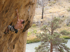 badman 5.14a / smith rock (chris frick) Tags: usa oregon climbing classics smithrock monkeyface aidclimbing smithrockstatepark 510b 514c dihedrals 514a aggrogully