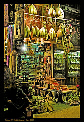 Historic Shop From Khan El-Khalili (Cairo) (khalid almasoud) Tags: from leather shop century woodwork nikon famous january egypt goods historic east cairo spices journey khan everything bazaar 14th middle selling narrow labyrinth khalid perfumes curiosities largest 2007 fabrics workshops  glassware pharaonic mercadotecnia caravanserai 8800   passageways    elkhalili       almasoud    phtotographer